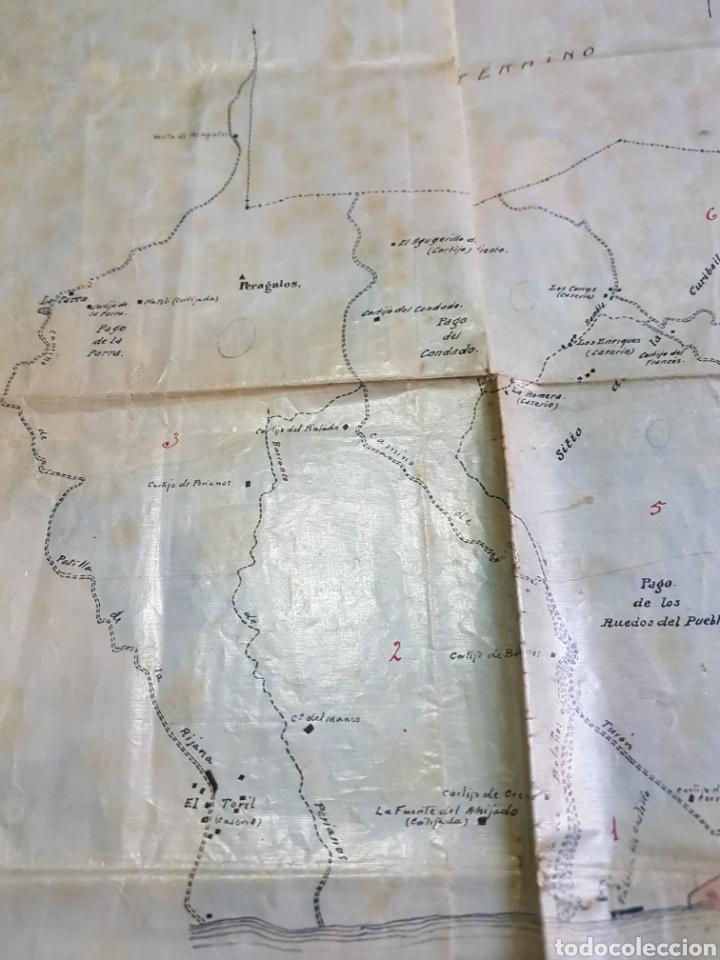 Mapas contemporáneos: Mapa municipio Adra (Almería) Hecho a mano. Papel laminado plastificado. Años 50 - Foto 3 - 171203589