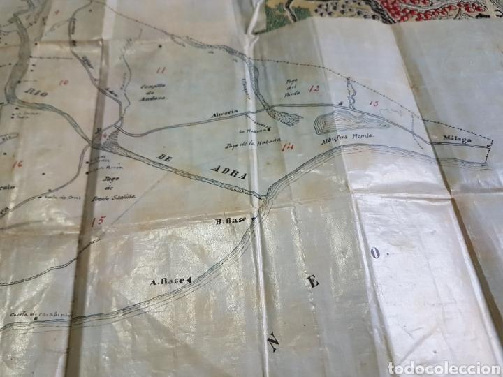 Mapas contemporáneos: Mapa municipio Adra (Almería) Hecho a mano. Papel laminado plastificado. Años 50 - Foto 4 - 171203589