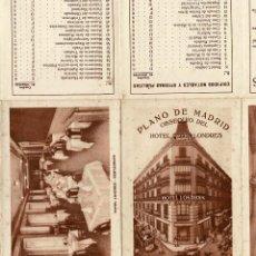 Mapas contemporáneos: PLANO DE MADRID.- OBSEQUIO DEL HOTEL LONDRES.. Lote 171244834