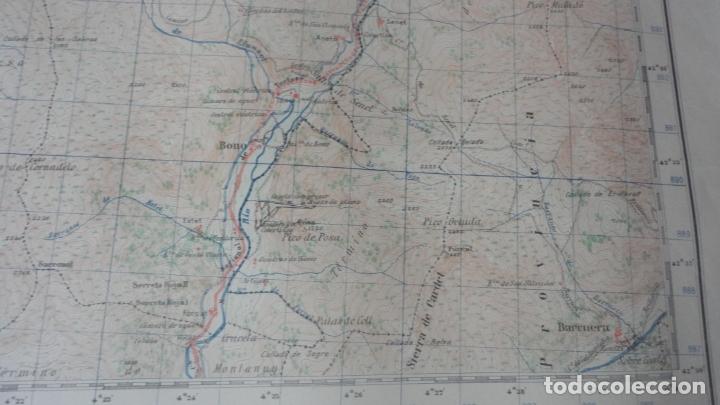 Mapas contemporáneos: ANTIGUO MAPA BENASQUE.HUESCA EDICION MILITAR 1950 - Foto 5 - 171476004