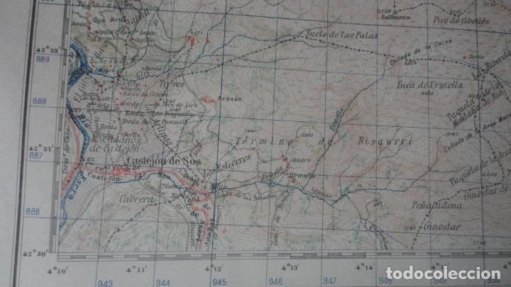 Mapas contemporáneos: ANTIGUO MAPA BENASQUE.HUESCA EDICION MILITAR 1950 - Foto 6 - 171476004