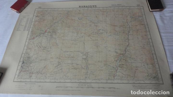 ANTIGUO MAPA BENASQUE.HUESCA EDICION MILITAR 1950 (Coleccionismo - Mapas - Mapas actuales (desde siglo XIX))