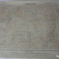 Mapas contemporáneos: ANTIGUO MAPA BENASQUE.HUESCA EDICION MILITAR 1950. Lote 171476004