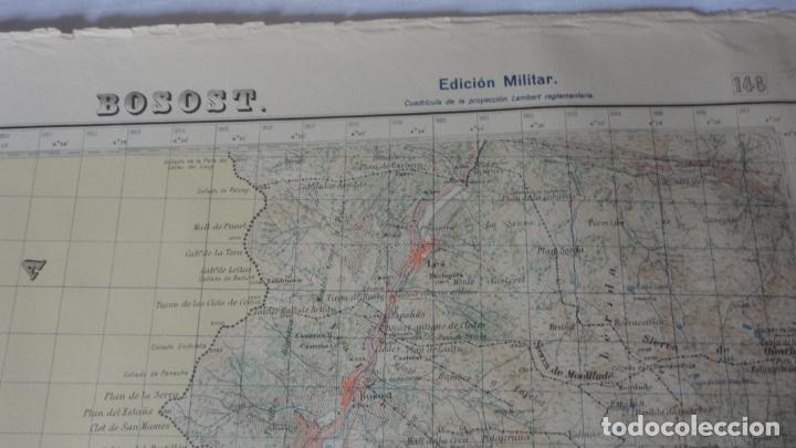 Mapas contemporáneos: ANTIGUO MAPA BOSOST LERIDA EDICION MILITAR 1950 - Foto 2 - 171476522