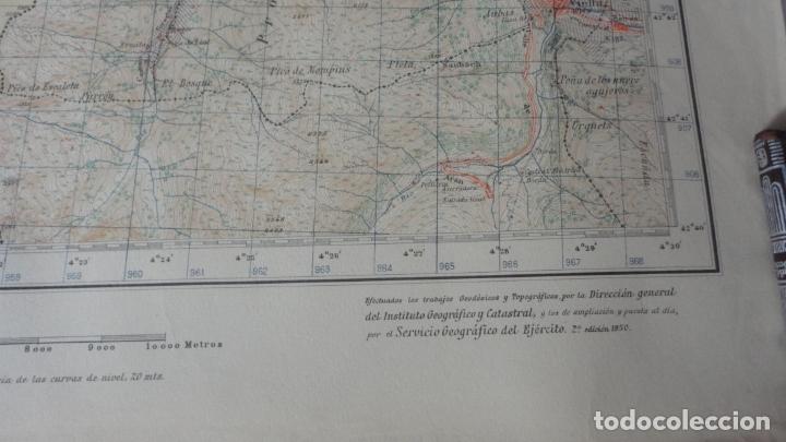 Mapas contemporáneos: ANTIGUO MAPA BOSOST LERIDA EDICION MILITAR 1950 - Foto 3 - 171476522