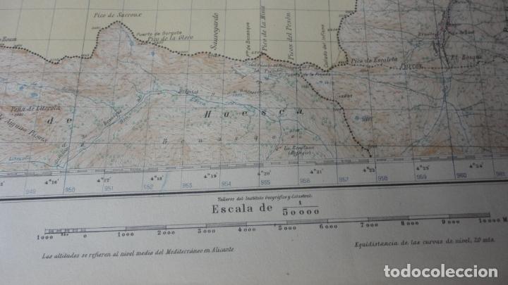 Mapas contemporáneos: ANTIGUO MAPA BOSOST LERIDA EDICION MILITAR 1950 - Foto 4 - 171476522