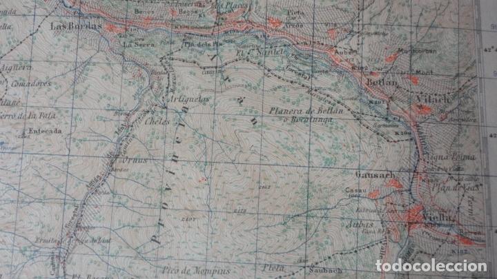 Mapas contemporáneos: ANTIGUO MAPA BOSOST LERIDA EDICION MILITAR 1950 - Foto 5 - 171476522