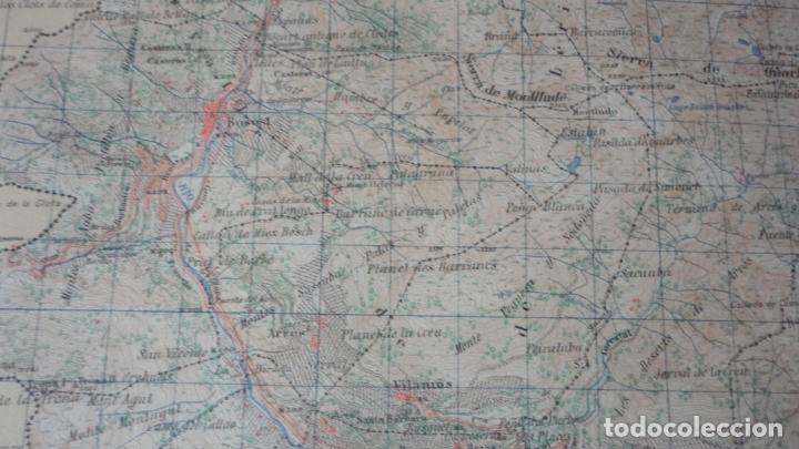 Mapas contemporáneos: ANTIGUO MAPA BOSOST LERIDA EDICION MILITAR 1950 - Foto 6 - 171476522