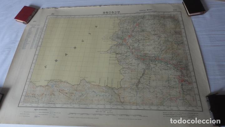 ANTIGUO MAPA BOSOST LERIDA EDICION MILITAR 1950 (Coleccionismo - Mapas - Mapas actuales (desde siglo XIX))
