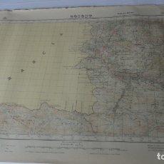 Mapas contemporáneos: ANTIGUO MAPA BOSOST LERIDA EDICION MILITAR 1950. Lote 171476522