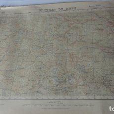 Mapas contemporáneos: ANTIGUO MAPA.ESTERRI DE AMEU.LERIDA EDICION MILITAR 1942. Lote 171477874