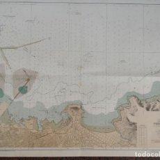 Mapas contemporáneos: CARTA NÁUTICA NAVEGACIÓN PUERTO DE GIJON. Lote 171648348