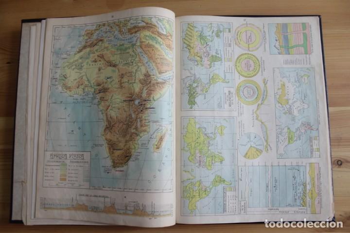 Mapas contemporáneos: ANTIGUO ATLAS GEOGRÁFIA UNIVERSAL, MUY ILUSTRADO 102 MAPAS - SALVADOR SALINAS BELLVER 1956 - INDICE - Foto 5 - 171737569