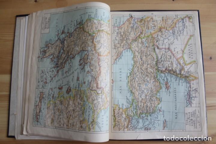 Mapas contemporáneos: ANTIGUO ATLAS GEOGRÁFIA UNIVERSAL, MUY ILUSTRADO 102 MAPAS - SALVADOR SALINAS BELLVER 1956 - INDICE - Foto 6 - 171737569