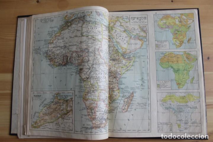 Mapas contemporáneos: ANTIGUO ATLAS GEOGRÁFIA UNIVERSAL, MUY ILUSTRADO 102 MAPAS - SALVADOR SALINAS BELLVER 1956 - INDICE - Foto 7 - 171737569