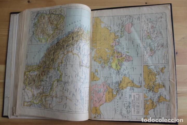 Mapas contemporáneos: ANTIGUO ATLAS GEOGRÁFIA UNIVERSAL, MUY ILUSTRADO 102 MAPAS - SALVADOR SALINAS BELLVER 1956 - INDICE - Foto 8 - 171737569