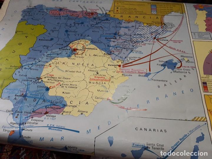 MAPA COLEGIO GUERRA CIVIL 2 MAPAS COLEGIO BLACK FRIDAY (Coleccionismo - Mapas - Mapas actuales (desde siglo XIX))
