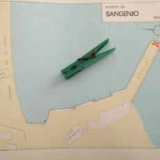 Mapas contemporáneos: AÑOS 60S PLANO MAPA PUERTOS MUELLES - PUERTO DE GALICIA - PONTEVEDRA - SANGENJO Y RAJO. Lote 172012558