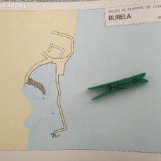 Mapas contemporáneos: AÑOS 60S PLANO MAPA PUERTOS MUELLES - PUERTOS DE GALICIA LUGO - BURELA Y FOX . Lote 172014623