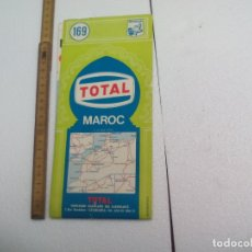 Mapas contemporáneos: 169. MICHELIN. TOTAL. MAROC. MAP. MAPA DE CARRETERAS DE MARRUECOS. MIDE 110 X 98 CM. Lote 172297430