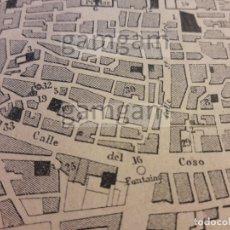 Mapas contemporáneos: PLANO DE ZARAGOZA DEL AÑO 1864. Lote 172364797