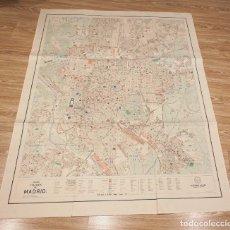 Mapas contemporáneos: PLANO FOLDEX DE MADRID. EDITORIAL ALMAX ESCALA 1:8500. 125X95 CM.. Lote 172634037