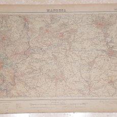 Mapas contemporáneos: MAPA MILITAR MANRESA 363 DEL INSTITUTO GEOGRÁFICO Y CATASTRAL AMPLIADO 2A. EDICIÓN DEL AÑO 1950. Lote 172890140