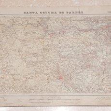 Mapas contemporáneos: MAPA MILITAR SANTA COLOMA DE FARNES 333 DEL INSTITUTO GEOGRÁFICO Y CATASTRAL AMPLIADO 2A. EDICIÓN. Lote 172890207