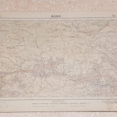 Mapas contemporáneos: MAPA MILITAR OLOT 257 DEL INSTITUTO GEOGRÁFICO Y CATASTRAL AMPLIADO 2A. EDICIÓN DEL AÑO 1950. Lote 172893342