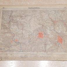 Mapas contemporáneos: MAPA MILITAR SABADELL 392 DEL INSTITUTO GEOGRÁFICO Y CATASTRAL AMPLIADO 2A.EDICIÓN DEL AÑO 1952. Lote 172896550