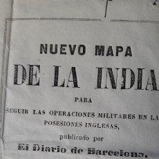 Mapas contemporáneos: MAPA ANTIGUO DE LA INDIA CO DETALLE PLANO NUEVA DELHI 1837 . Lote 173101063