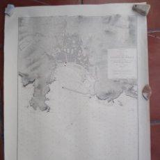 Mapas contemporáneos: GRAN MAPA CARTA NAUTICA O NAVEGACION MAPA SAN FELIU DE GUIXOLS 1958 1889. Lote 173318093