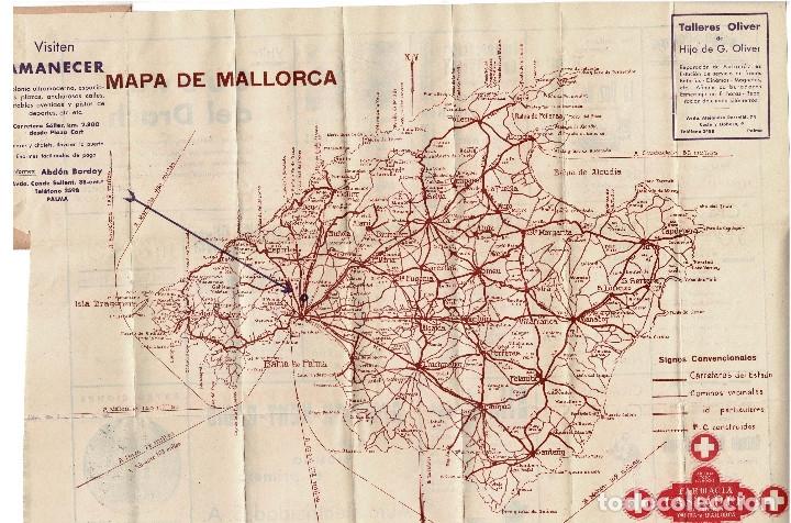 Mapa De Carreteras Y Ferrocarriles De Mallorca Buy Contemporary