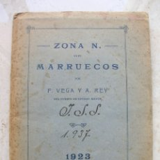 Mapas contemporáneos: MAPA ZONA NORTE DE MARRUECOS FELIPE DE. VEGA Y REY PASTOR AÑO 1923.TAMAÑO: 80 X 43 CTMS.. Lote 175143115