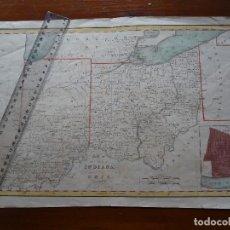 Mapas contemporáneos: MAPA DE INDIANA Y OHIO, ENGRAVED AND PRINTED BY FENNER SEARS. Lote 175344924