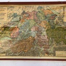 Mapas contemporáneos: MAPA ESCOLAR POLÍTICO DE SUIZA SOBRE LIENZO . Lote 175454704