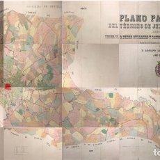 Mapas contemporáneos: PLANO PARCELARIO DE JEREZ DE LA FRONTERA. ADOLFO LOPEZ CEPERO. AÑO, 1904. LITOGRAFIAS ORIGINALES.. Lote 175669913