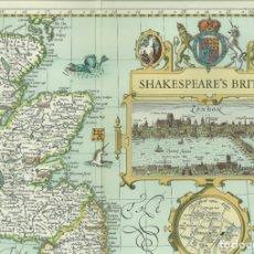 Mapas contemporáneos: MAPA SHAKESPEARE'S BRITAIN. Lote 175827530