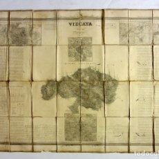 Mapas contemporáneos: MAPA DE VIZCAYA POR EL CORONEL FRANCISCO COELLO, D. VICTOR DE MUNIBE Y D. PASCUAL MADOZ EN 1857. Lote 176008107