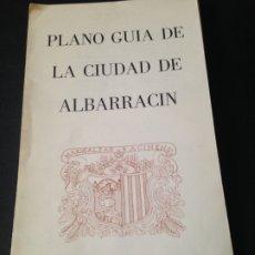 Mapas contemporáneos: PLANO GUIA DE LA CIUDAD DE ALBARRACIN DESPLEGABLE. AÑO 1987. Lote 176955313