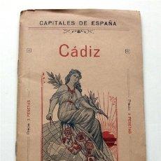 Mapas contemporáneos: PLANO DE CÁDIZ. CAPITALES DE ESPAÑA. EDITORIAL MARTÍN, SL. BARCELONA. PRINCIPIOS DEL SIGLO XX. Lote 177314354