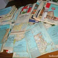 Mapas contemporáneos: LOTE DE 124 MAPAS, COLECCIÓN IMPORTANTE, CONTINENTES ,MUNDO,EEUU- LEER- REBAJADO 50%. Lote 177387374