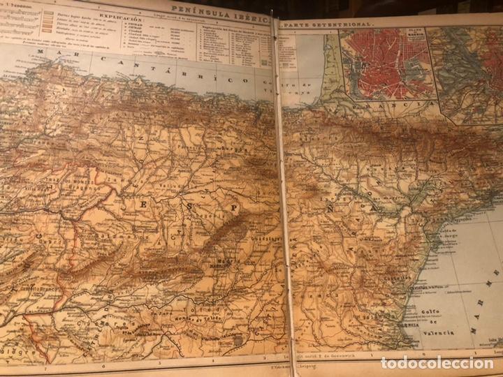 Mapas contemporáneos: Atlas universal para las escuelas primarias secundarias y normales... VOLCKMAR. Con 27 mapas de 34. - Foto 11 - 177417778
