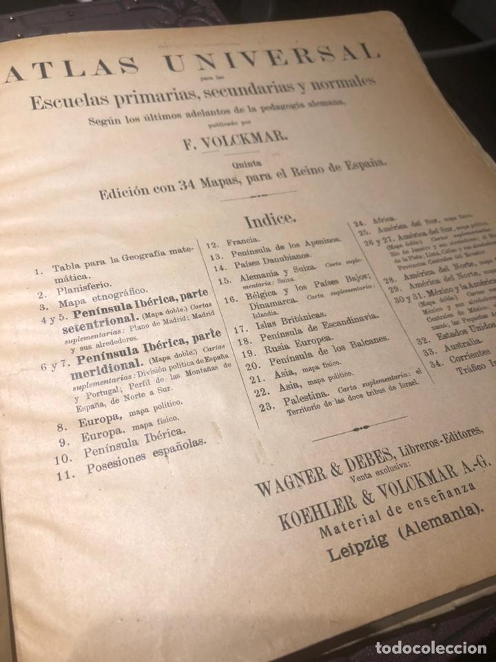 ATLAS UNIVERSAL PARA LAS ESCUELAS PRIMARIAS SECUNDARIAS Y NORMALES... VOLCKMAR. CON 27 MAPAS DE 34. (Coleccionismo - Mapas - Mapas actuales (desde siglo XIX))