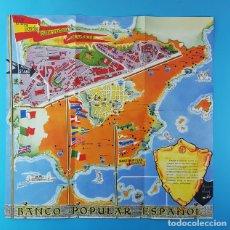 Mapas contemporáneos: CURIOSO MAPA PLANO GUIA DE LA IV FERIA INTERNACIONAL DEL CAMPO MADRID ¿1959?. Lote 177568608