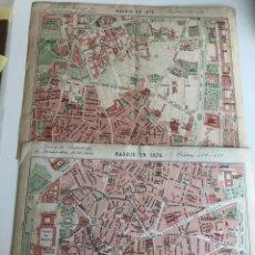 Mapas contemporáneos: 3 MAPAS DE MADRID 1876 Y 1892. Lote 177589409