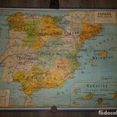 Mapas contemporáneos: MAPA DE ESPAÑA DE USO ESCOLAR, AÑO 1976, POLITICO Y DE COMUNICACIONES. CASA HERNANDO.89X115 CMS. Lote 177597115
