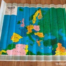 Mapas contemporáneos: GRAN MAPA ESCOLAR DE EUROPA, DOBLE CARA. MIDE 1,29METROS X 93CMS. Lote 177870482