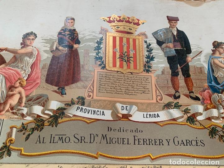 Mapas contemporáneos: Precioso antiguo mapa Prov. Lerida, numerado, Lleida. Reseña geografica e historica.1a edicion. - Foto 3 - 177983882
