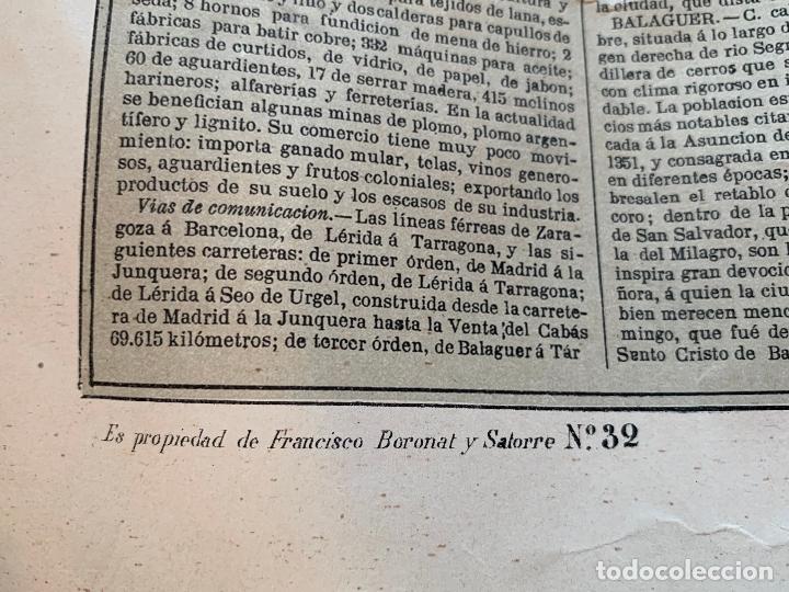 Mapas contemporáneos: Precioso antiguo mapa Prov. Lerida, numerado, Lleida. Reseña geografica e historica.1a edicion. - Foto 5 - 177983882